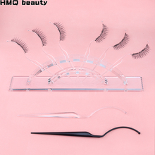 2pcs False Eyelash Extension สไตล์จอแสดงผล Grafting Eyelash ลองผล Exhibit เสริมปลอมขนตาผู้ถือเครื่องมือ