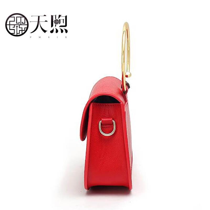 Rouge D'épaule Rétro Haute Sac Vent Cuir Luxe Anneau De Marque Femelle Ethnique 2018 Pmsix Nouveau Red Mode Style Qualité Chinois En Bandoulière 7dqwTcxOU