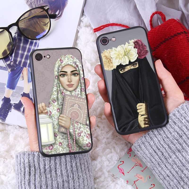 Oriental Women Phone Case for iPhone 6 6s 7 8 Plus X XR XS Max Mysterious Women Cute Phone Cover Luxury Soft Phone Case in Fitted Cases from Cellphones Telecommunications