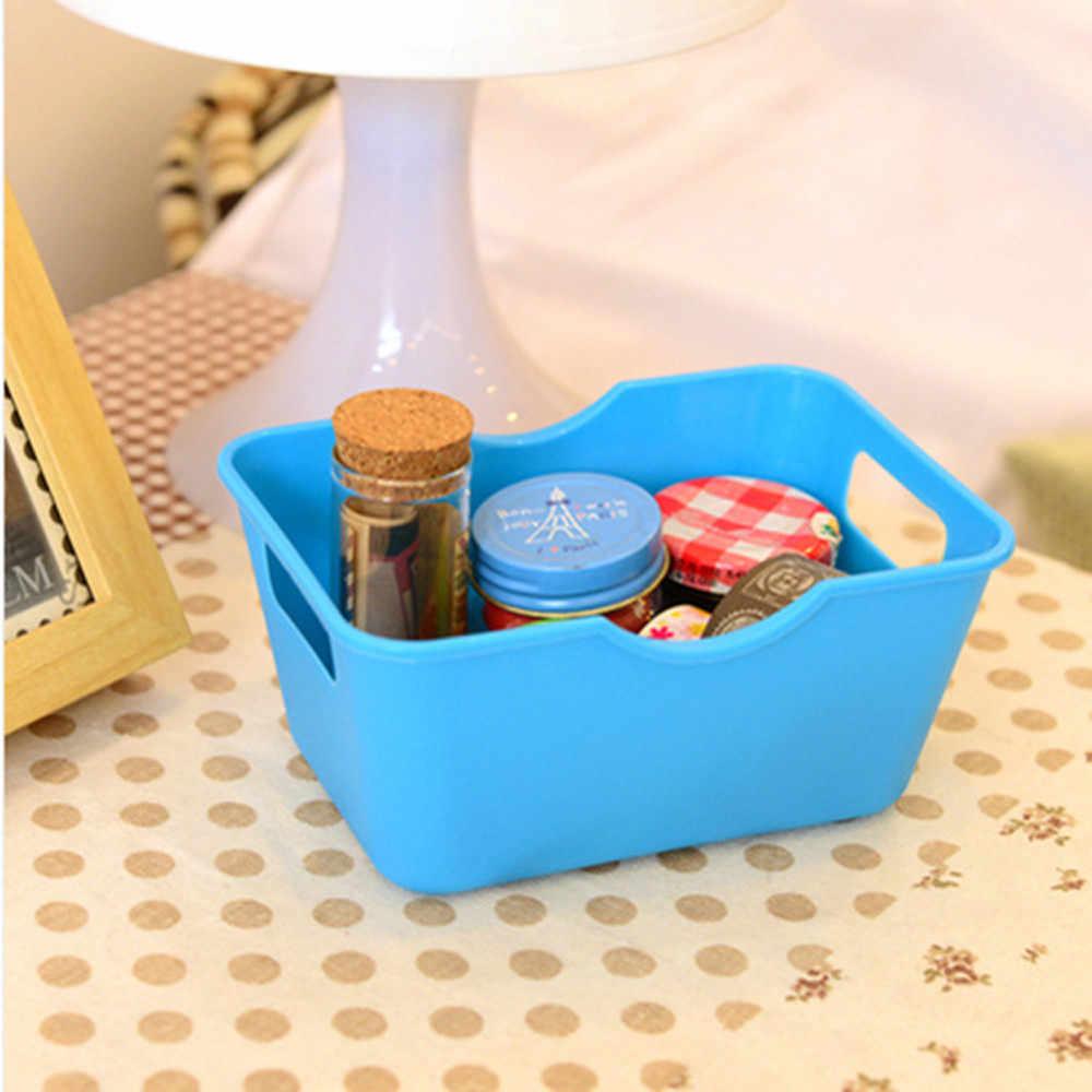 Organizador de escritorio organizador de maquillaje para cosméticos, esmalte de uñas, caja de almacenamiento de plástico, organizador de escritorio, portatarjetas #15