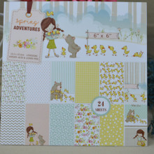 Background-Pad Paper-Pack Craft-Paper Scrapbooking 24-Sheets Handmade DIY GIRL of Duck-Style