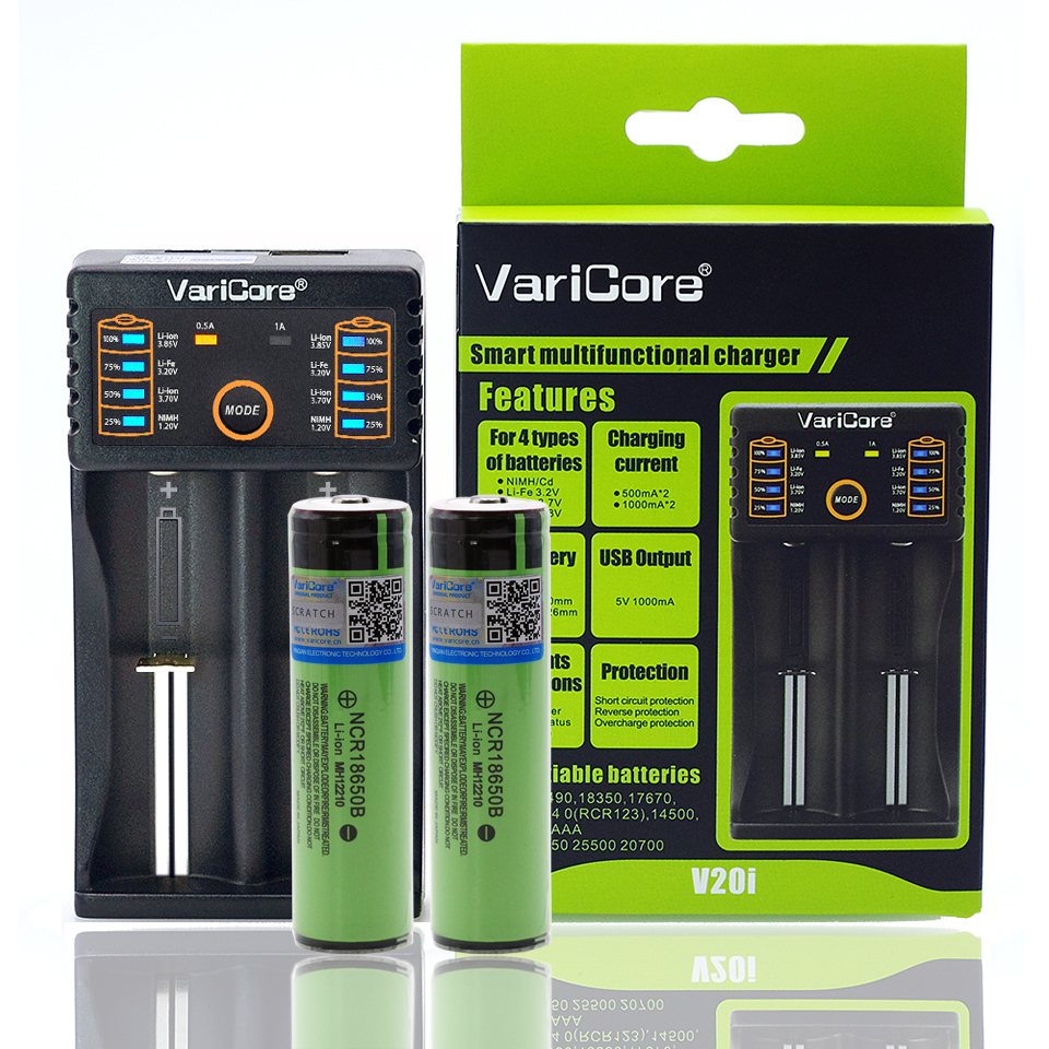 2PCS VariCore protected for 18650 3400mAh battery NCR18650B original PCB 3 7V Suitable for flashlights V20i