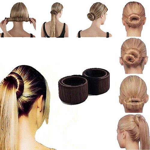 Модные женские туфли Крутить Волосы Булочку Donut Стайлинг кос держатель вспомогательное средство