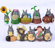 10pcs/Set Classic Totoro Toys My Neighbor Totoro Mei PVC Action Figure For Kids Hot Anime Figures Free Shipping