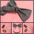 15 sets Metal hook bow tie Hardware Necktie Hook Bow Tie or Cravat bra Clips Fasteners to Make Adjustable Straps on buckles dips