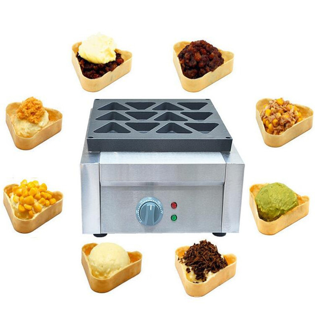 110V 220V 2500W Commercial Non-Stick Triangle Electric Waffle Machine 12pcs Triangle Bread Maker Bread Baker EU/AU/UK/US Plug