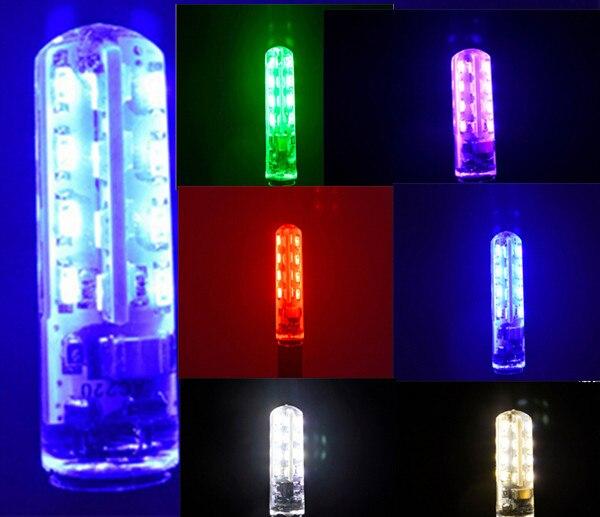 colors LED G4 green 220V red 3014-32smd led red g4 220v green g4 blue 220v colorful rgb silicone g4 led 220v blue light bulbs