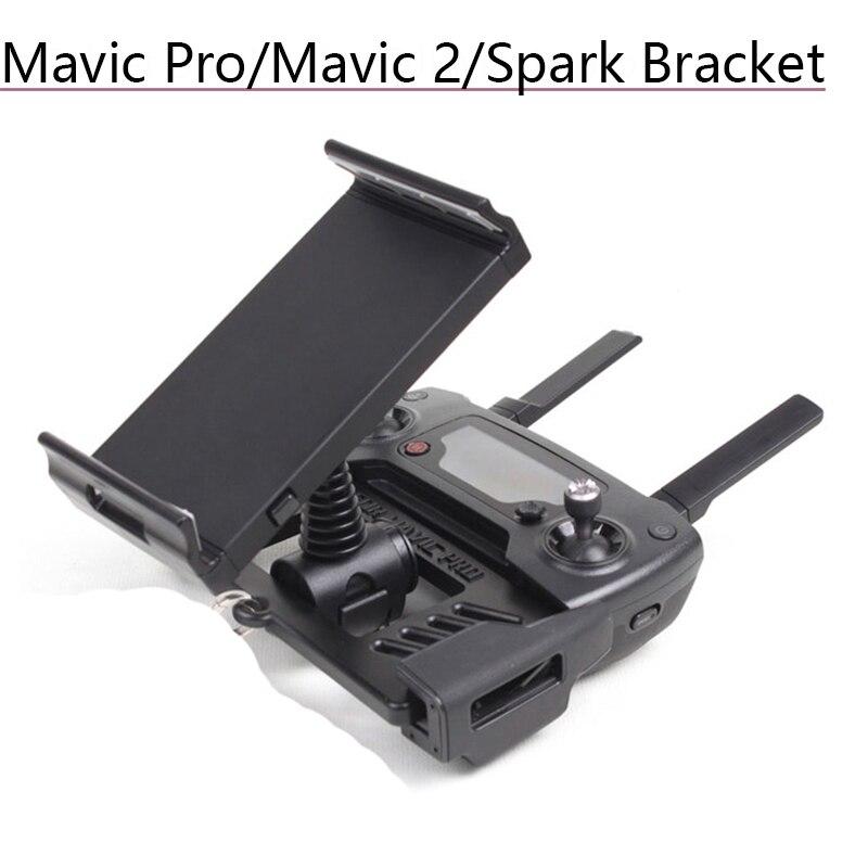 Tüketici Elektroniği'ten Drone Aksesuarları Kitleri'de 4.7 9.7in Tablet braketi monitör telefon tutucu takoz desteği DJI Mavic Pro Platinum için hava Mavic 2 Zoom kıvılcım IPad aksesuarları title=