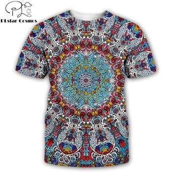 2019 New Fashion Trippy T-shirt Glow in the Dark 3D Psychedelic Printed Men Women Short Sleeves Summer Streetwear Casual T shirt dark blue feather pattern cold shoulder short sleeves t shirt