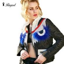 2016 Winter Women Jackets 90% White Duck Down Jacket Coat Ultra Light Slim Parka Female Warm Outwear Blue Raccoon Fur Coats