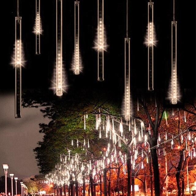 ЕС Plug 50 СМ Метеорный поток Дождь Трубы LED Рождественские Огни Сад Свадьбу Led Открытый Украшения Фея Света Строки