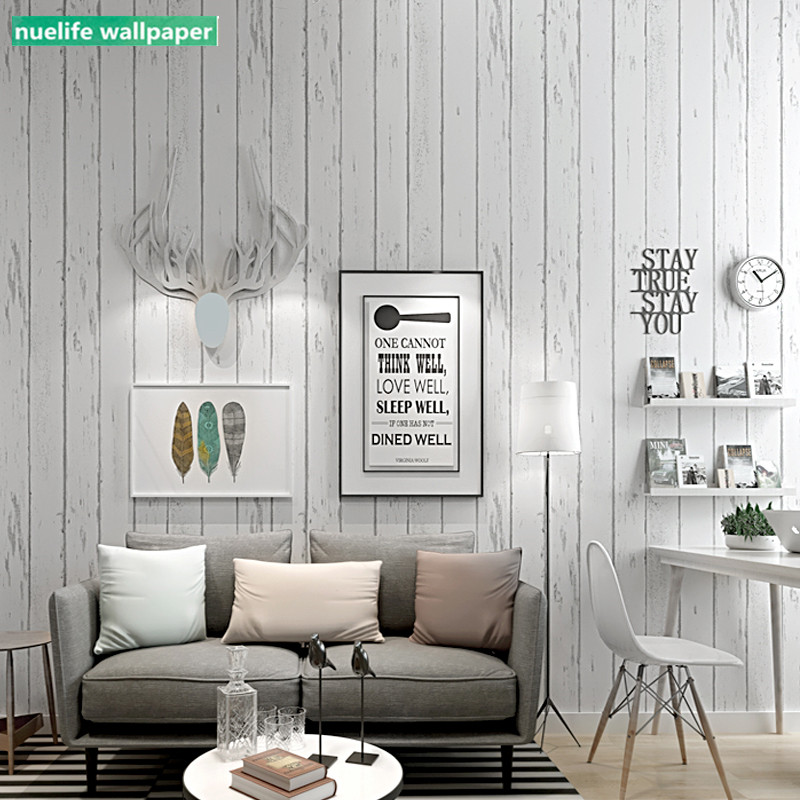 White Striped Imitation Wood Plank Pattern Wallpaper Bedroom Living Room Office Dining Room Background Wall Paper Wallpapers Aliexpress