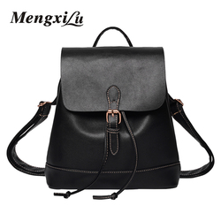 Mengxilu brand 2017 backpack women for school high quality women pu leather bags preppy style school.jpg 250x250
