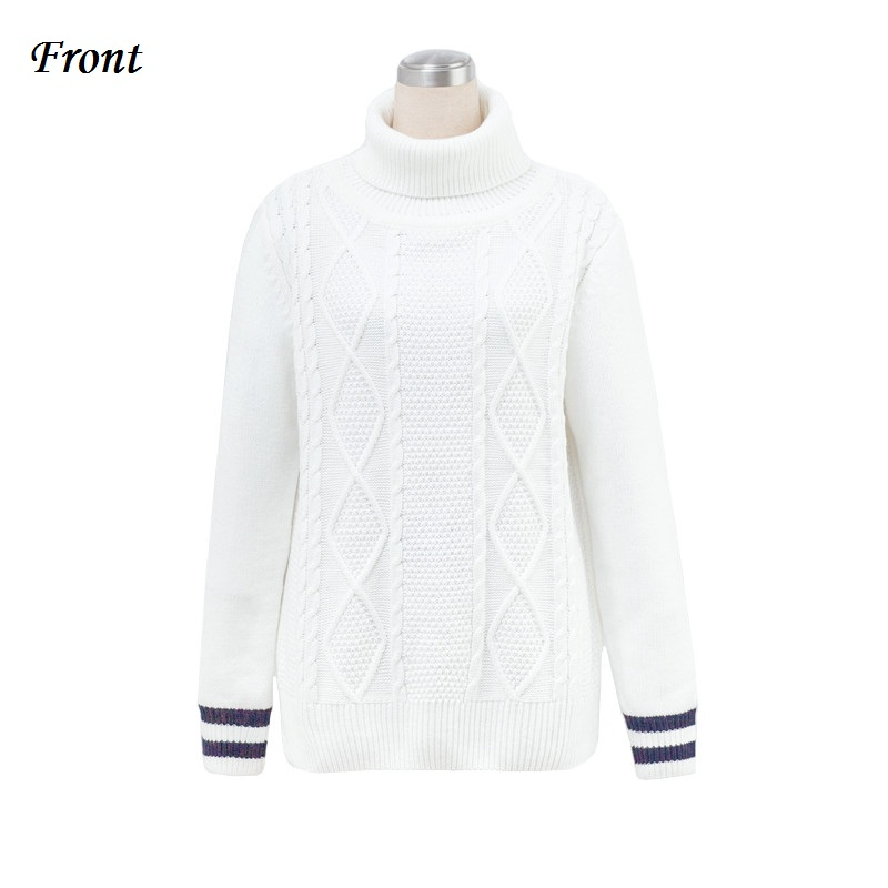 KPOP Same Style Men Turtleneck Sweater Cable Knit New 2017 Mens Winter Knitted Pullovers White Sweater Free Shipping
