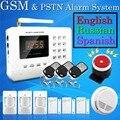Venta caliente Del Envío Libre al por mayor Wireless PSTN GSM Sistema de Alarma de Ladrón del Hogar de Seguridad del Sistema de Alarma 433 MHz 2-2