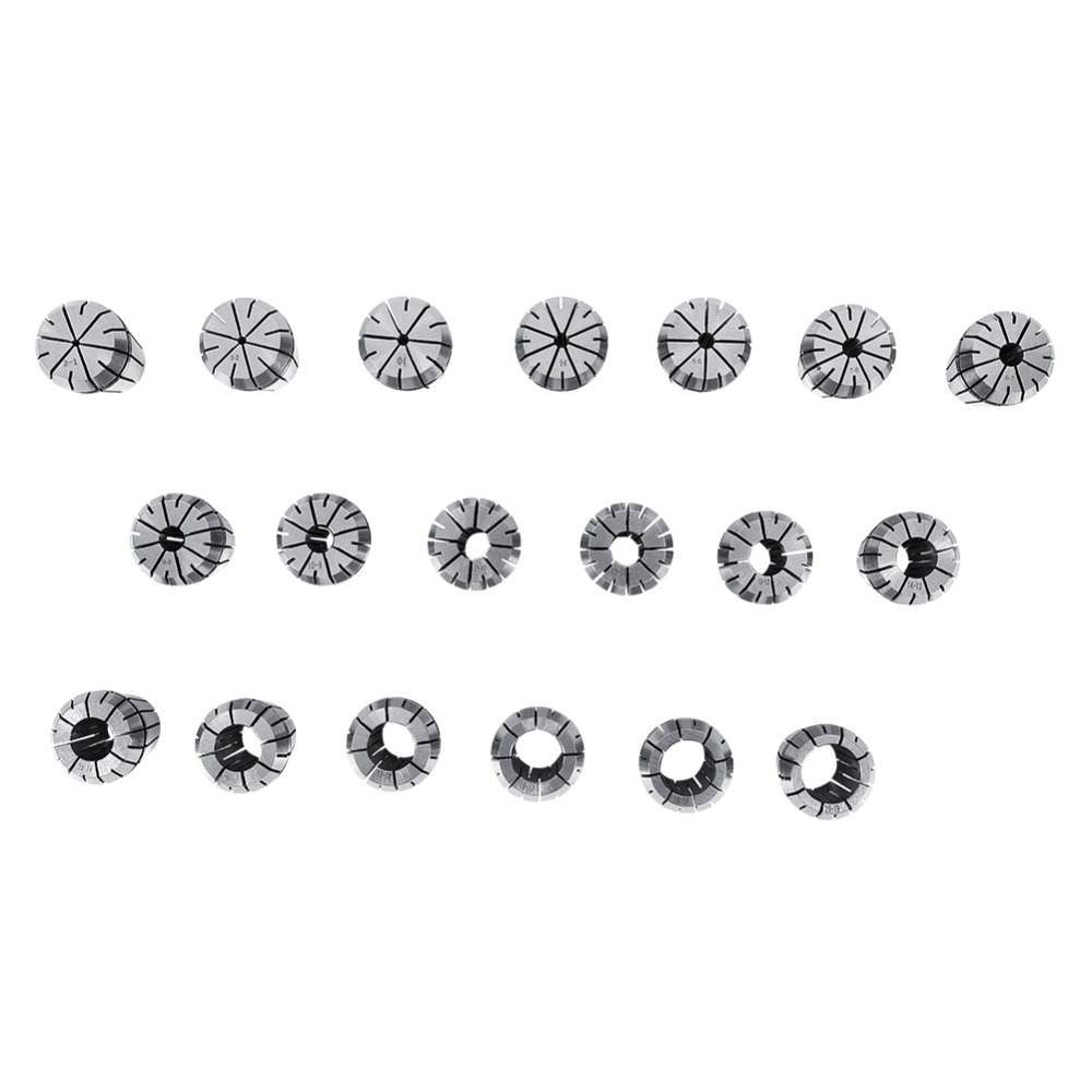 19PCS Lot ER32 Collet Molla Clips Pinza Per CNC Milling Machine Lathe Incisione 2mm to 20mm