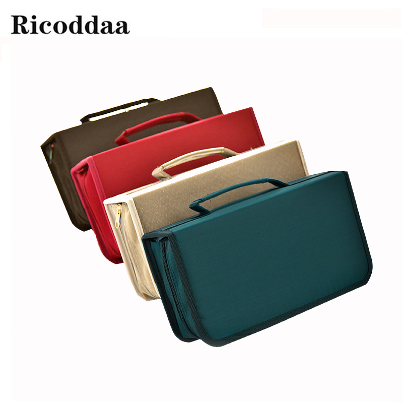 Large Capacity 128 Disc Capacity DVD CD Case Holder For Car Media Storage CD Bag Portable Carry Bag Box For DVD CD Accessories