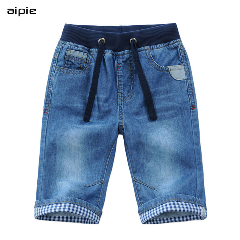 Promotion New 2018 Kids Boys Denim Shorts Summer Boys Casual Solid Soft Cotton Jeans Shorts For 2-13 years Children Boys wear 1