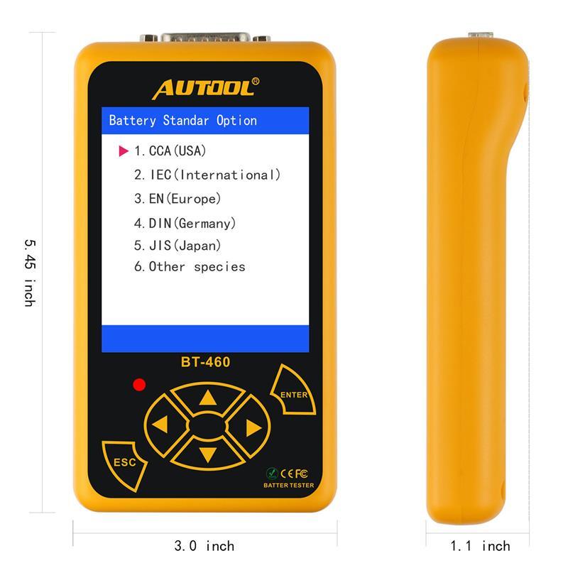 AUTOOL BT460 testeur de batterie de voiture Instruments d'analyse numérique CCA AGM GEL Auto analyseur de batterie 12V 24V outil de Diagnostic pour camion - 4