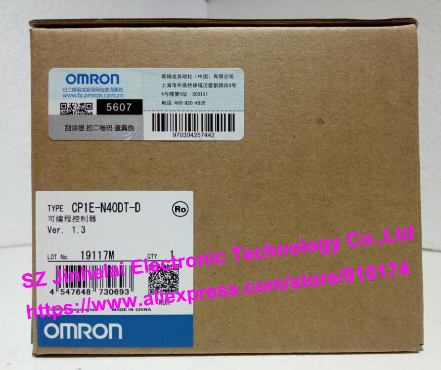 100% New and original CP1E-N40DT-D  OMRON PLC [zob] new original omron omron beam photoelectric switch e3jk tr12 c 2m 2pcs lot