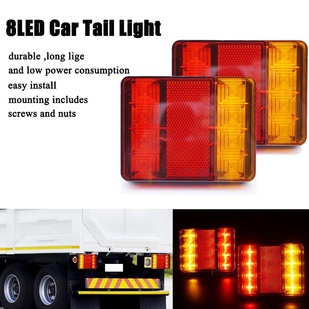 2pcs 12LED 12V Tail Light Rear Lamp Caravan For LED Truck Trailer Ute Waterproof