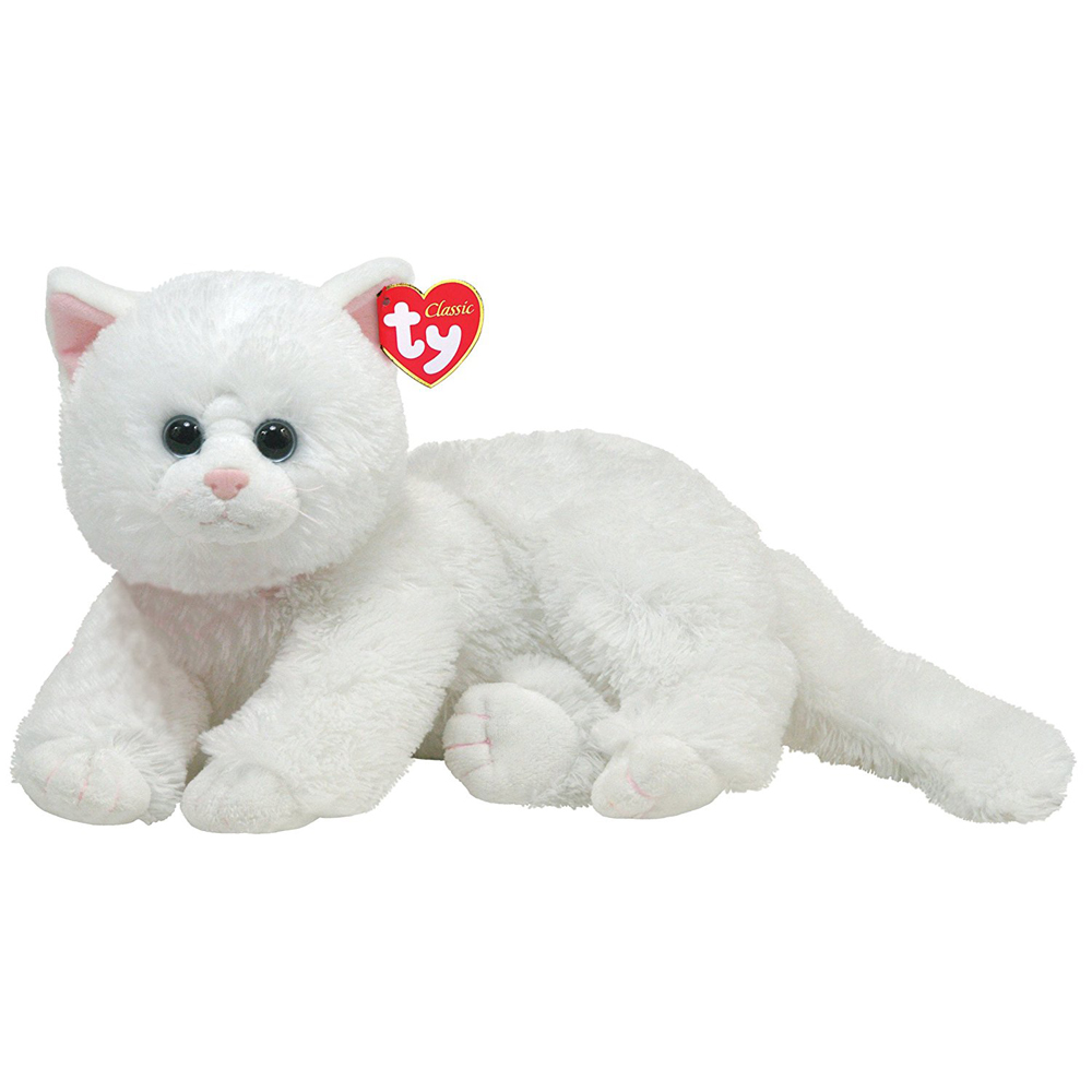 Pyoopeo Ty Classic 10 25cm Crystal The White Cat Plush Medium Soft