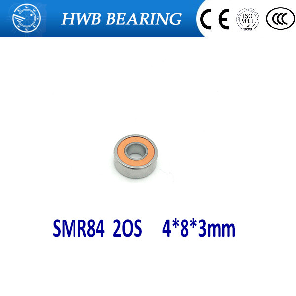 Free Shipping 4pcs SMR84 2OS 4x8x3mm Hybrid Ceramic Stainless Greased Bearing SMR84C 2OS ABEC7 SMR84-2RS