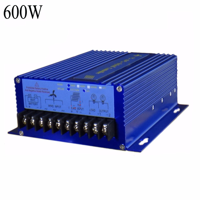 12/24V Auto Distinguish ,900W(600W wind turbine +300W Solar Panel) Wind Solar Hybrid System Controller,Hybrid Solar Wind Street free shipping 900w wind solar hybrid charger relgulater 600w wind generator 300w solar panel 12v and 24v available