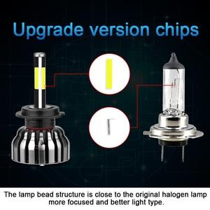 Image 3 - CARLitek 3D Faro Led H1 H4 H7 H11 9005 9006 HB3 HB4 881 H8 H9 880 881 samochodów Led reflektor żarówka mgła lampa 12000LM 6000 K 4 boczne diody