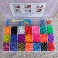 2200pcs Rubber Bands To Weave Bracelet Gum Rezinochki Machine Set For Plaiting Weaving Elastic Band Girl