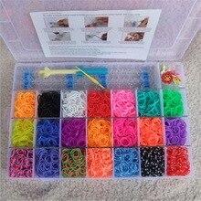 4200pcs rubber bands to weave bracelet gum rezinochki Machine set for plaiting weaving elastic band girl hair accessories