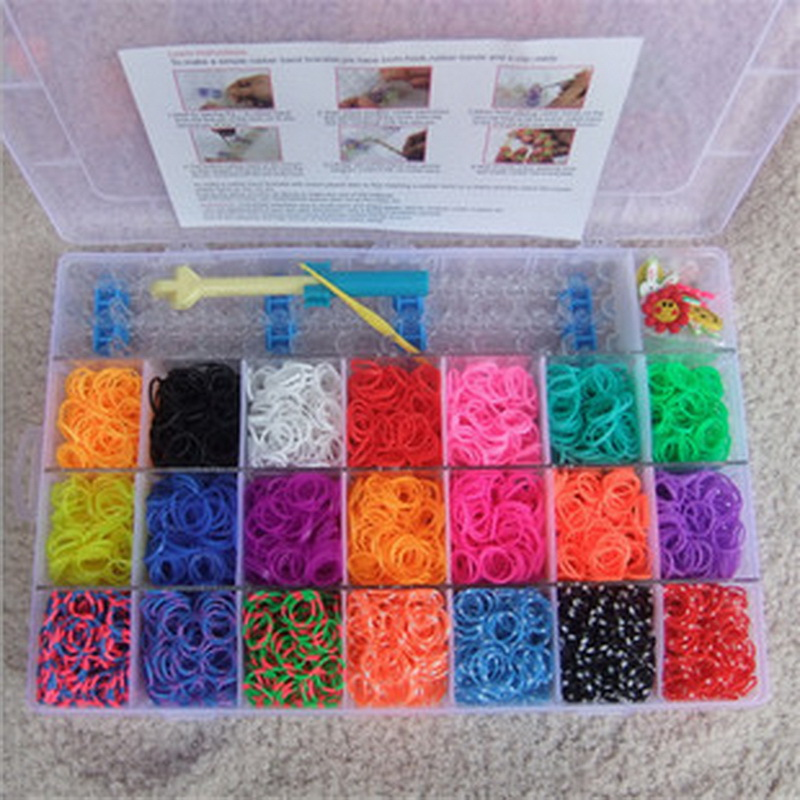 4200pcs rubber bands to weave bracelet gum rezinochki Machine set for plaiting weaving elastic band girl hair accessories 100pcs lot cute candy fluorescence kids girl elastic hair bands ponytail holder hair rubber band rope ties gum scrunchies