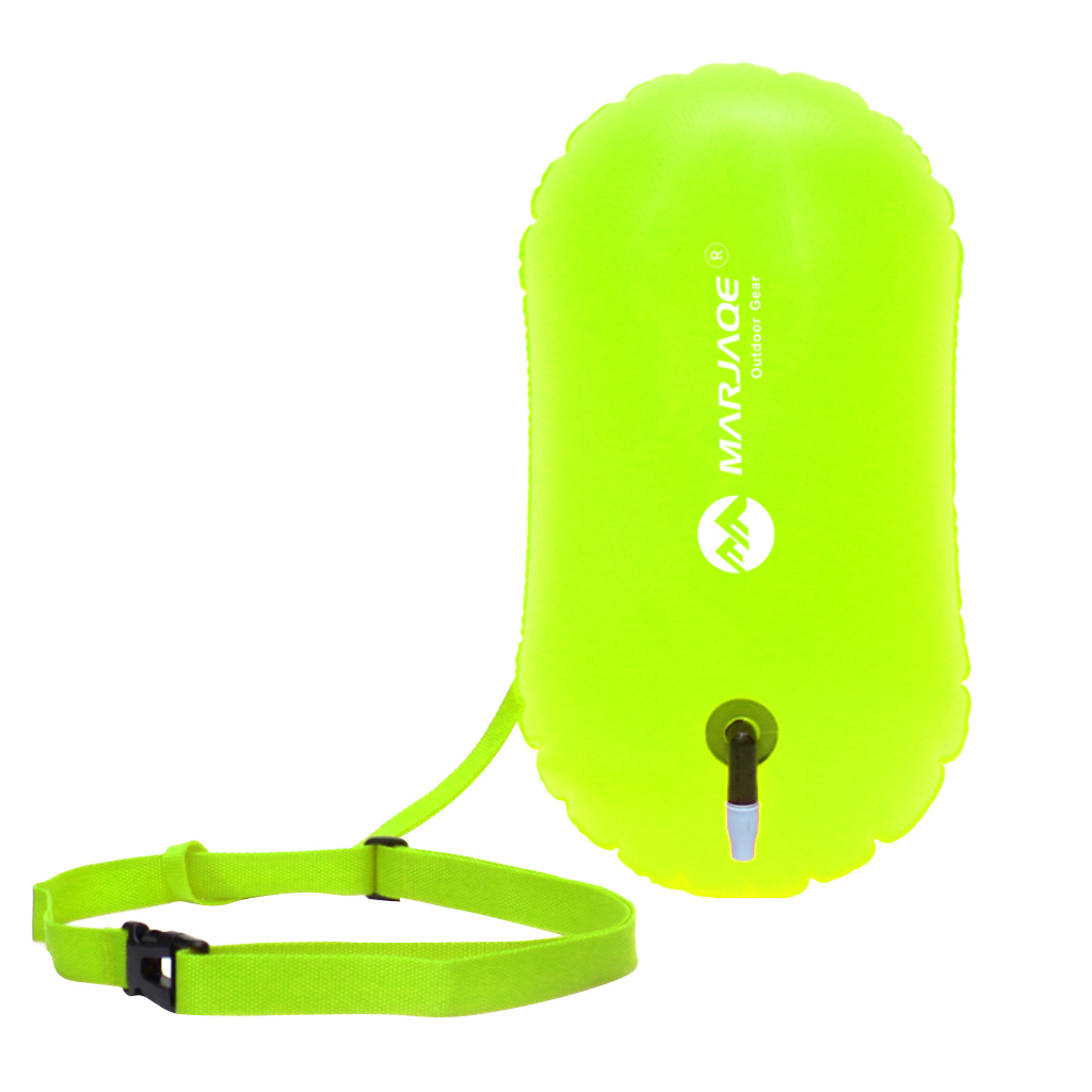 High Visibility Fluo Yellow Swim Bubble Swimming Tow Float Safety Buoy For Open Water Swimmers/Kayakers/Snorkelers/Triathletes куртка picture organic atlas black fluo yellow