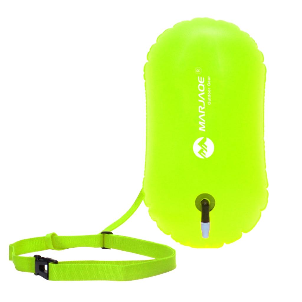 Hohe Sichtbarkeit Fluo Gelb Schwimmen Blase Schwimmen Schlepptau Float Sicherheit Boje Für Offene Wasser Schwimmer/Kayakers/Schnorchler/triathleten