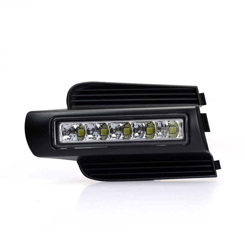 New Led Daytime running lights with light-off function front fog lamp For <font><b>Toyota</b></font> Prado 120 Land cruiser LC120 FJ120 <font><b>2003</b></font>~<font><b>2009</b></font>