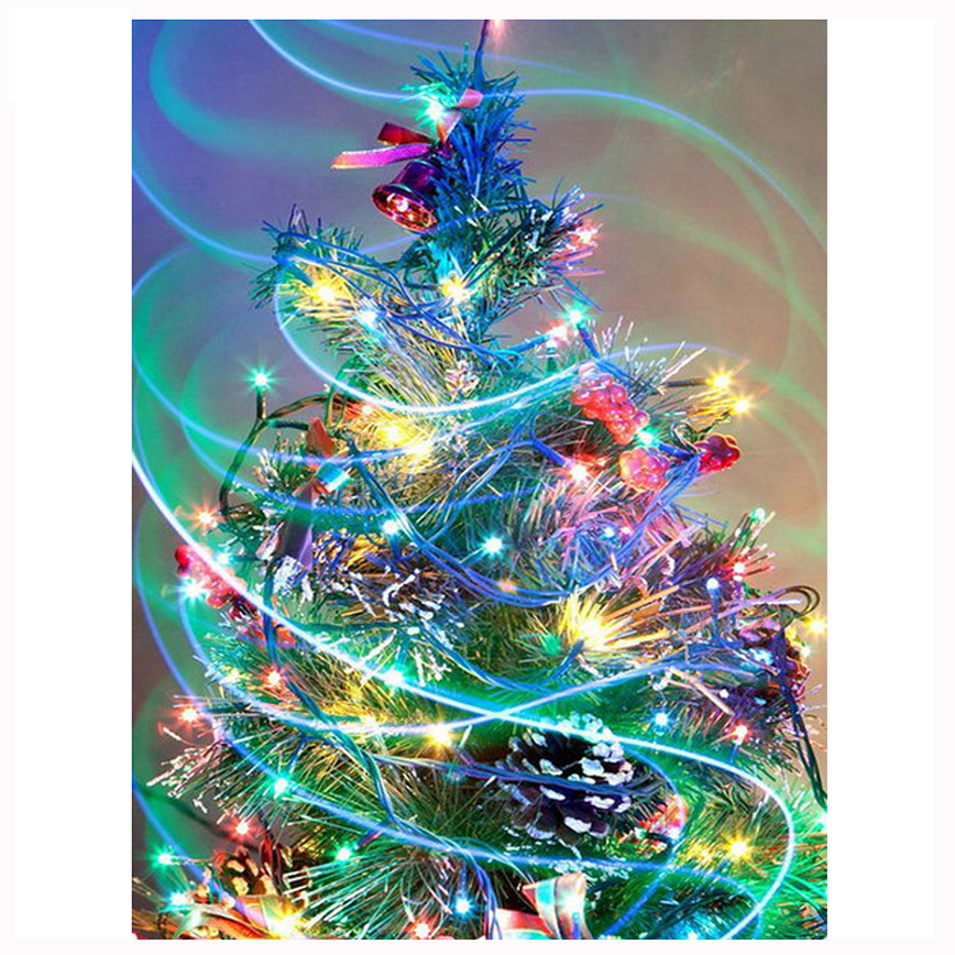 Colorful Christmas Tree Images.Us 4 1 18 Off Diy 5d Diamond Embroidery Painting Colorful Christmas Tree Picture Diamond Mosaic Cross Stitch The Paintings Of Rhinestone Zc538 In