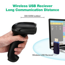 Wireless Laser Barcode Scanner Long Range Cordless Handheld Bar Code Reader for POS and Inventory F8 Free shipping