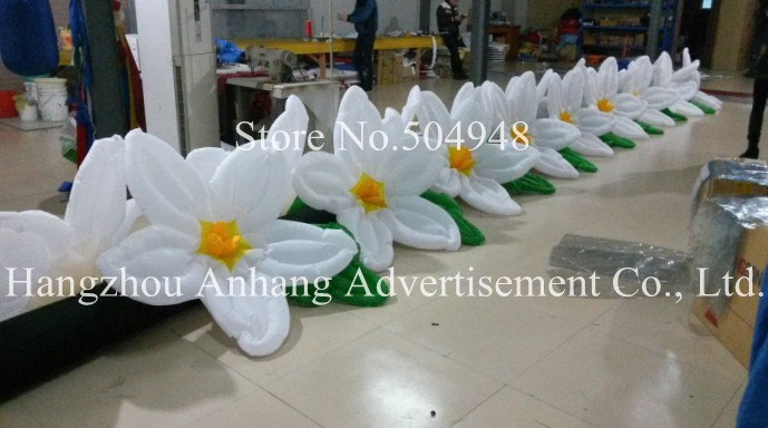 2016 Long Wedding Inflatable Flower Line 2017 new inflatable flower long wedding decoration flower