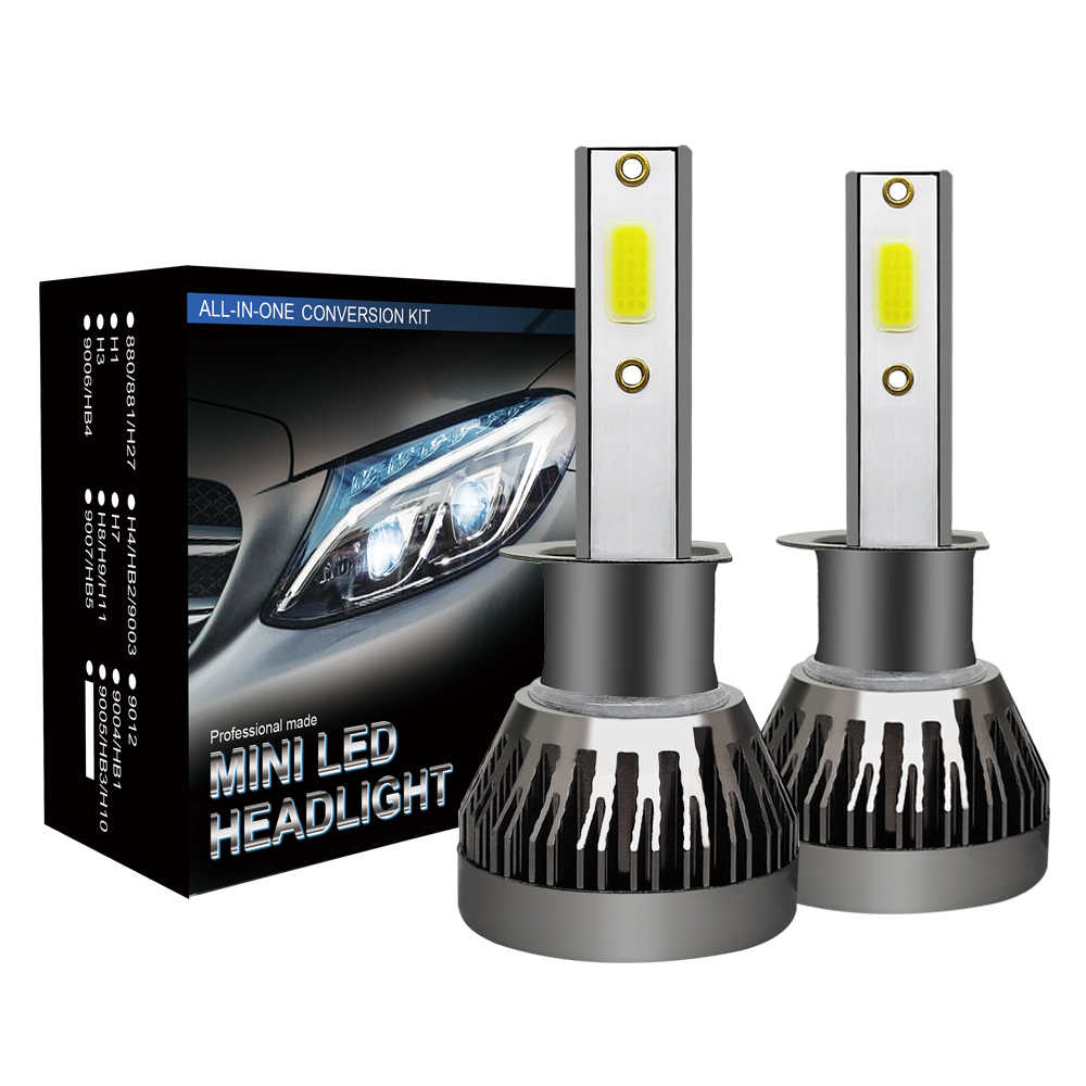 6000K LED H4 H7 Mini Car Headlight Bulbs Turbo LED Car Headlight H1 H8 H11 9005 HB3 9006 HB4 HB2 9003 Fog Light Bulb Accessories