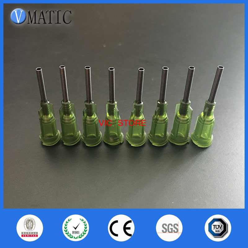 14G Precision passivated S.S. Dispense Tip with PP Safetylok hub, 0.5 Tubing Length/ glue dispensing tips dispensing needle
