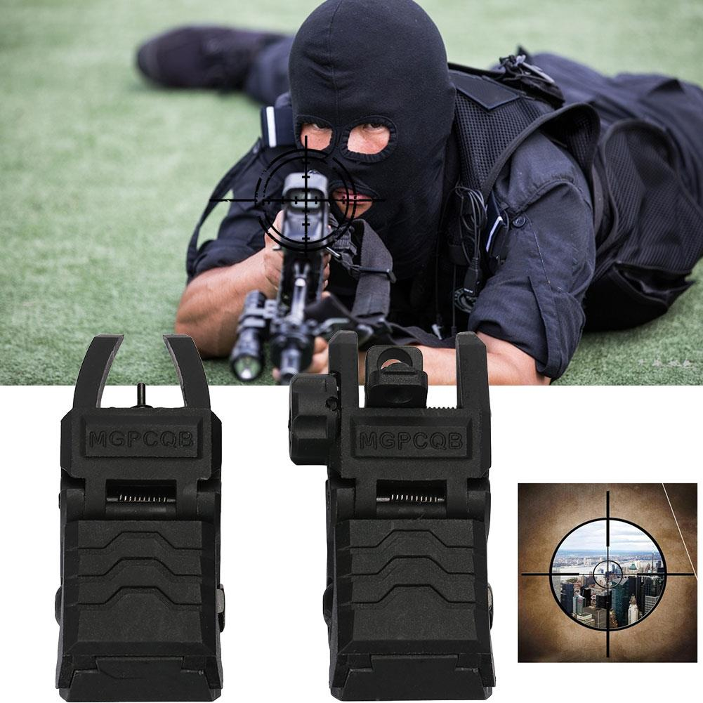 Magorui Tactical Flip Up Sight Front Rear Sight Backup Sight Rapid Rifle RTS Sight