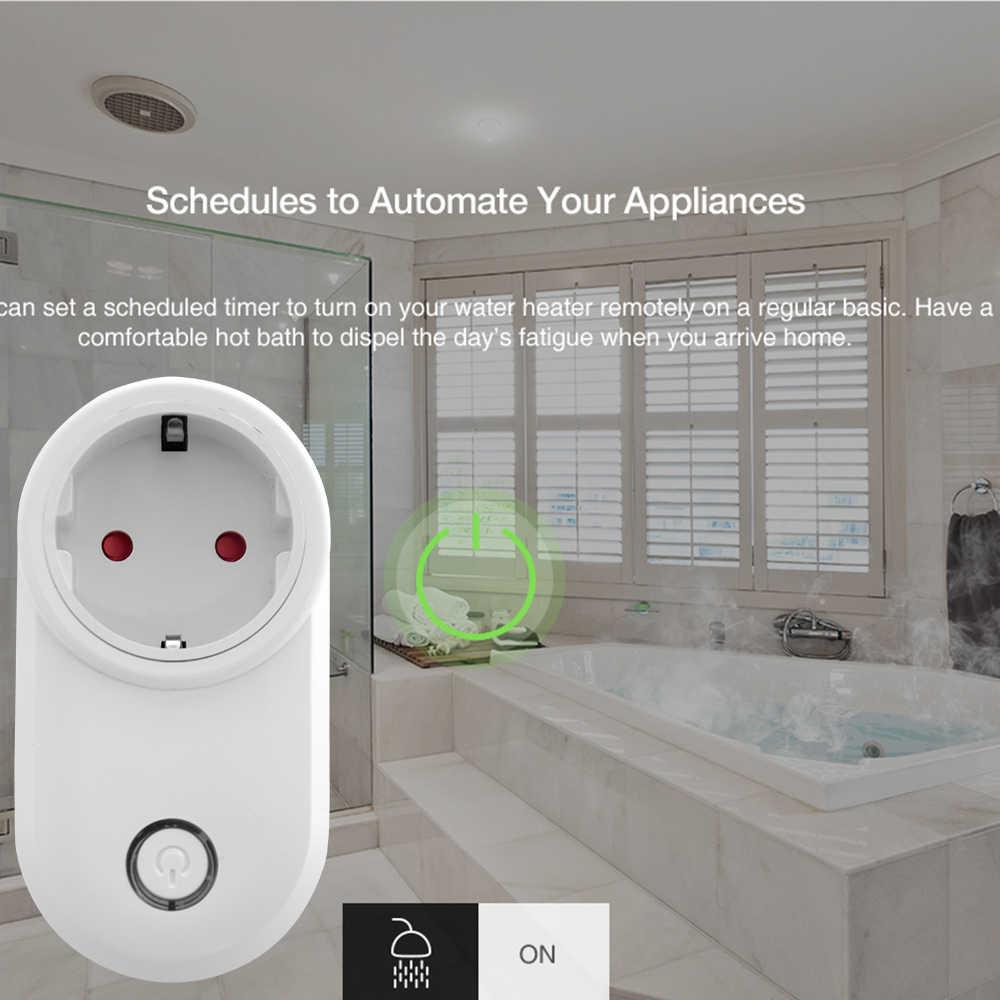 Timethinker Ewelink casa WiFi inteligente del zócalo nos UE Reino Unido enchufe de salida APP Control remoto por voz Alexa eco Google casa IFTTT