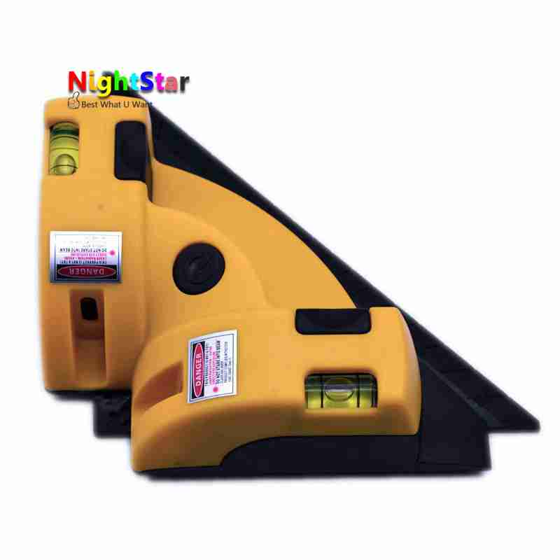Right angle 90 degree square Laser Level high quality tool laser Measurement tool level laser laser Measurement tool drill buddy cordless dust collector with laser level and bubble vial diy tool new