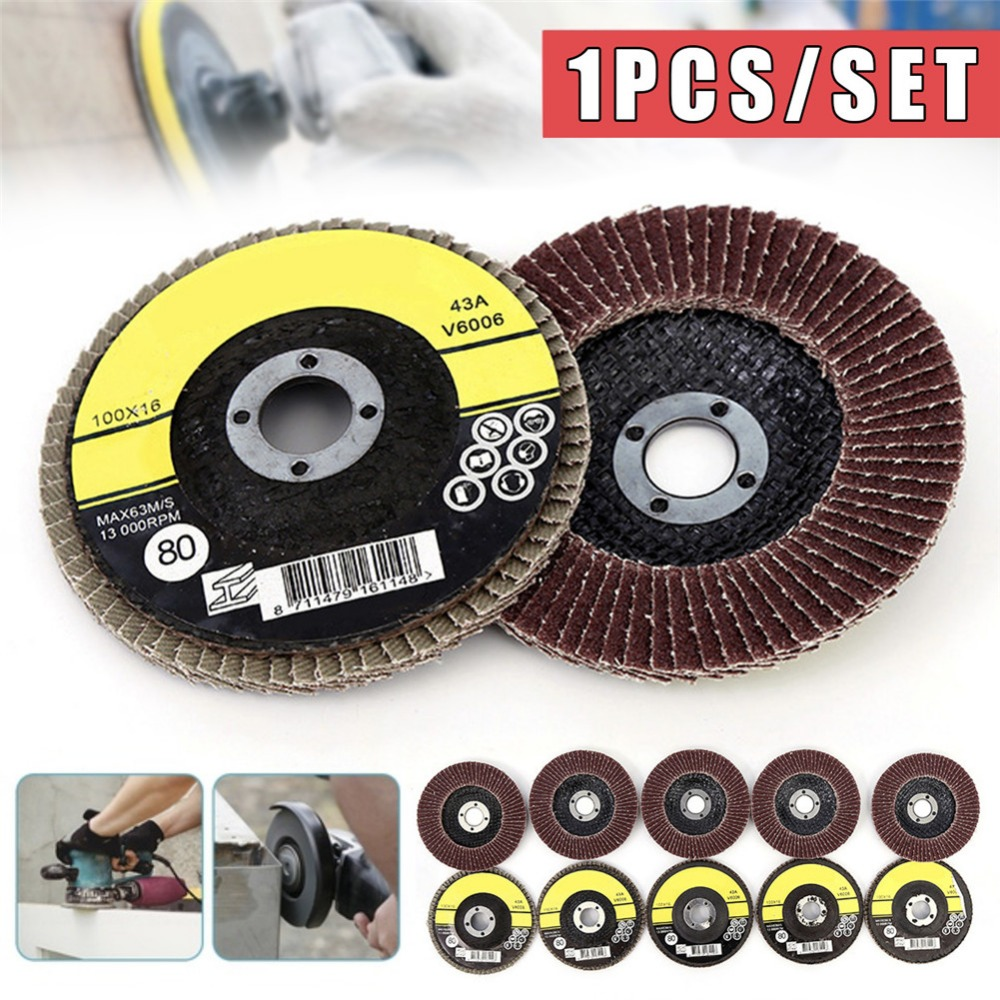 1PC 100mm Sanding Flap Disc Grinding Wheel Grit Discs Emery Cloth Angle Grinder Abrasive Tool diamond angle grinder wheel for glass ceramic grinding dia 100mm and 80mm hole 16mm abrasive pad 120 180 grit m007