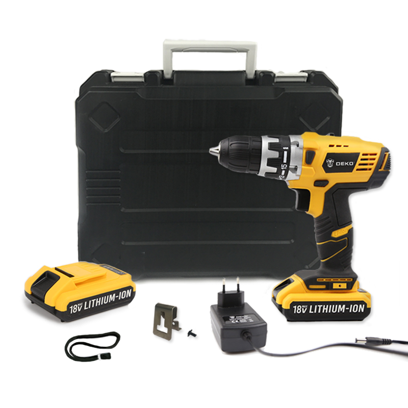 DEKO GCD18DU2 18V DC New Design Mobile Power Supply Lithium-Ion Battery Cordless Drill/Driver Power Drill Tools Electric Drill автоинструменты new design autocom cdp 2014 2 3in1 led ds150