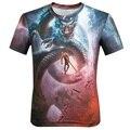 Горячие продаж 2016 Новый мужчины футболка Мода 3D harajuku дракон печати трикотажные топ тис Повседневная О-Образным Вырезом с коротким рукавом Футболки