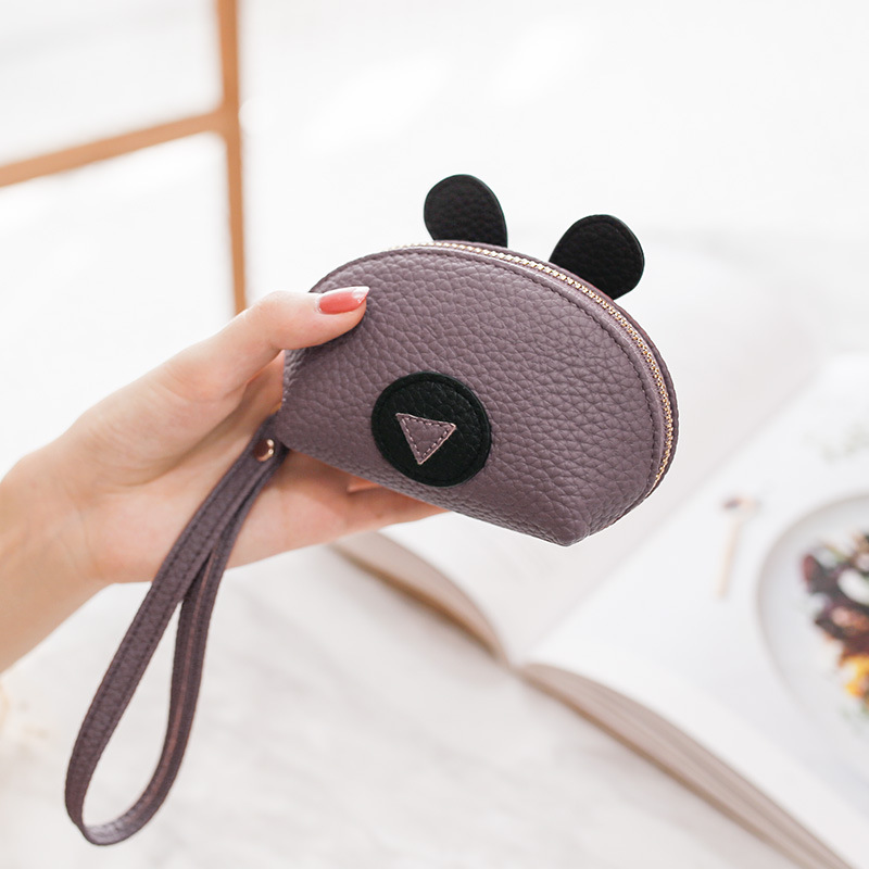 HNXZXB Preferential 2018 High quality Women Leather Small Mini Wallet Holder Zip Coin Purse Clutch Handbag