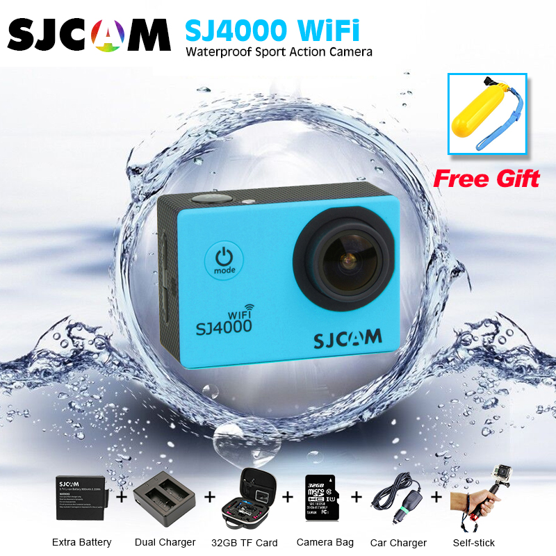 цены Original SJCAM SJ4000wifi Action Camera Diving 30M Waterproof Camera 1080P Full HD 170 Degree Sports Camera vs go pro camera