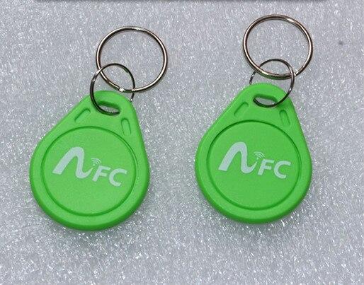 3 Couleurs * 6 pcs/lot 13.56 MHz Ntag 216 RFID IC Clé Tags Keyfobs Token NFC TAG Porte-clés Pour Arduino