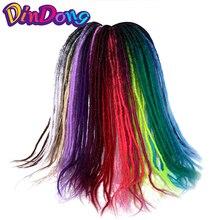 DinDong 24 hüvelykes Kakekalon Handmade Dreadlocks Horgolt hajhosszabbítás Ombre Soft Reggae Hair Crochet Braids 25 színben kapható